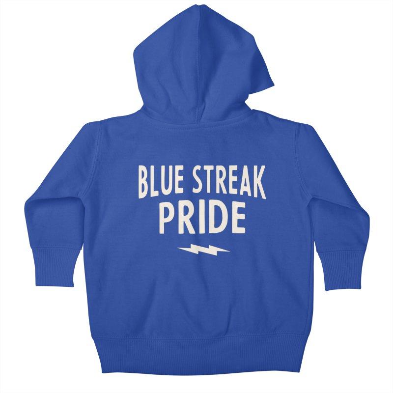 Blue Streak Pride Kids Baby Zip-Up Hoody by Shop Sandusky Ink & Cloth