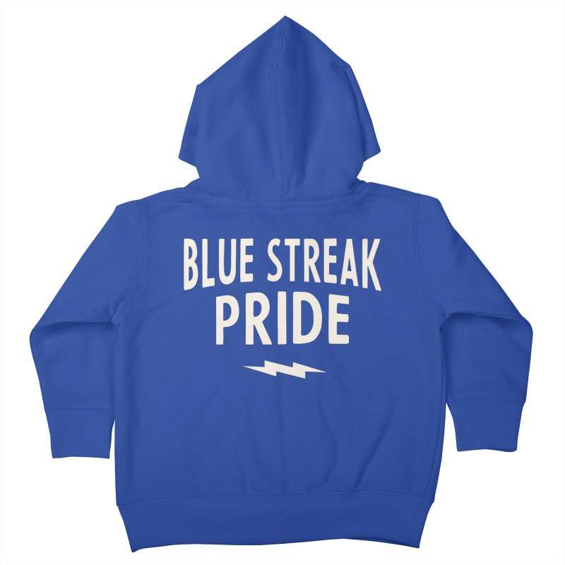 Blue Streak Pride Kids Toddler Zip-Up Hoody by Shop Sandusky Ink & Cloth
