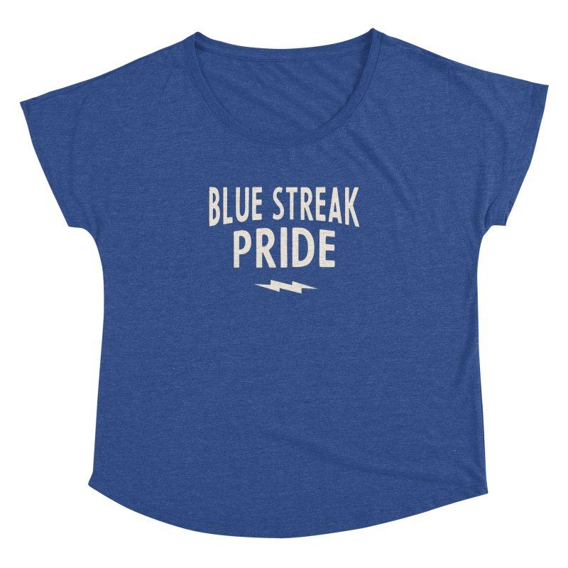 Blue Streak Pride Women's Dolman Scoop Neck by Shop Sandusky Ink & Cloth