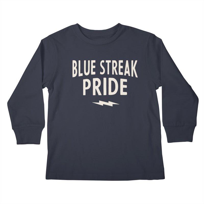 Blue Streak Pride Kids Longsleeve T-Shirt by Shop Sandusky Ink & Cloth
