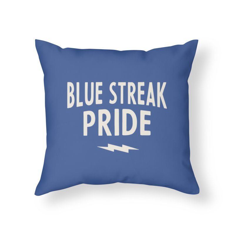 Blue Streak Pride Home Throw Pillow by Shop Sandusky Ink & Cloth