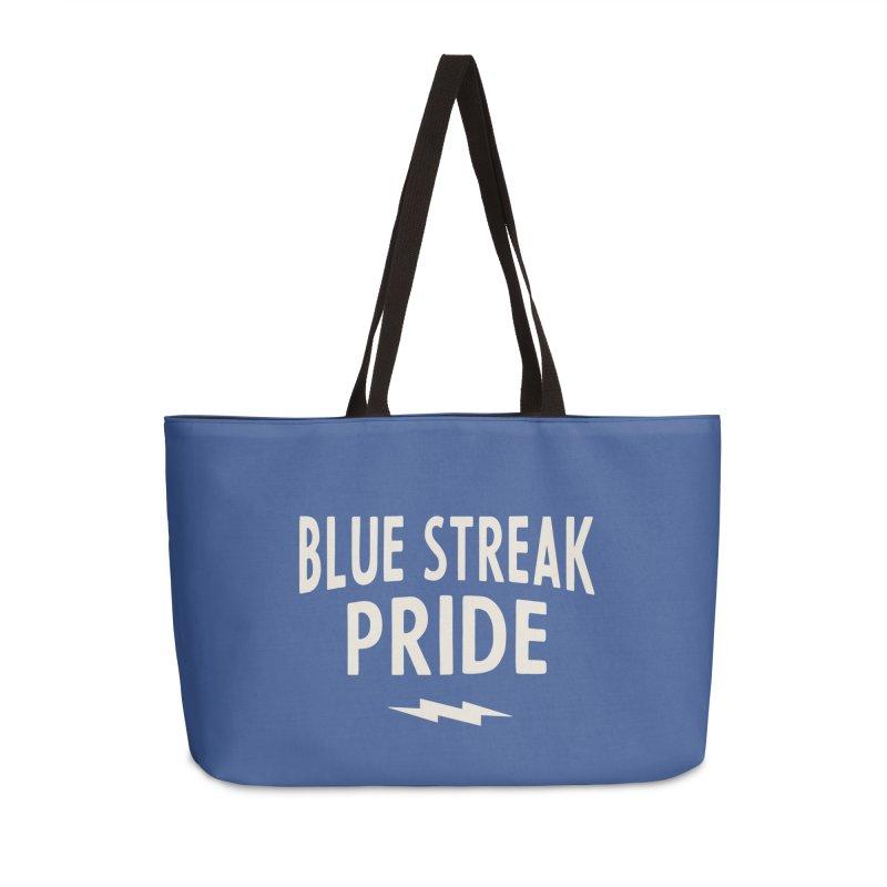 Blue Streak Pride Accessories Weekender Bag Bag by Shop Sandusky Ink & Cloth