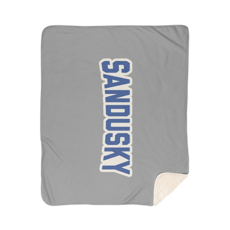 Block Sandusky Home Sherpa Blanket Blanket by Shop Sandusky Ink & Cloth