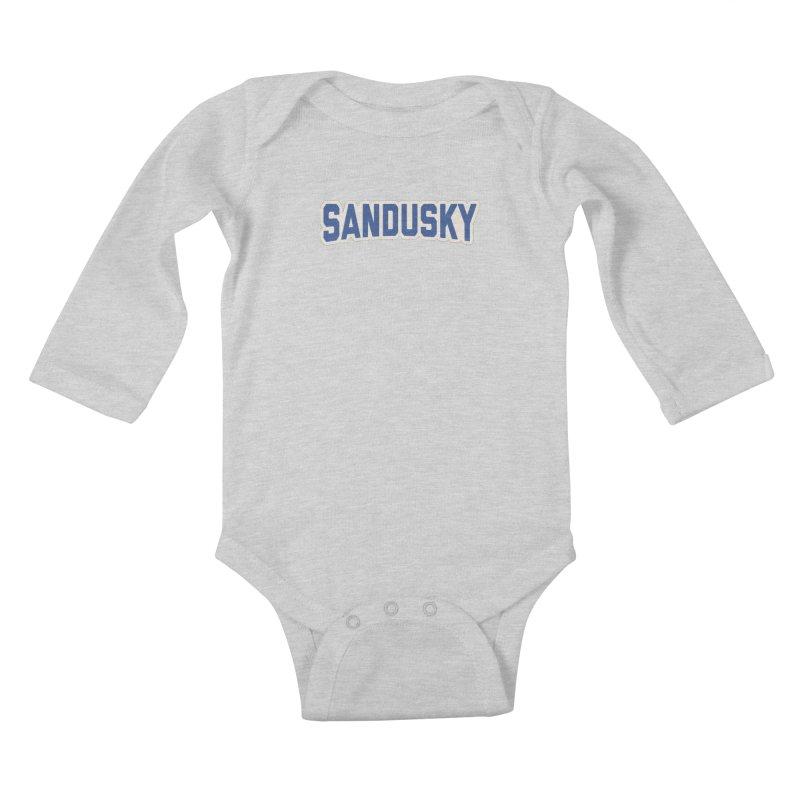 Block Sandusky Kids Baby Longsleeve Bodysuit by Shop Sandusky Ink & Cloth