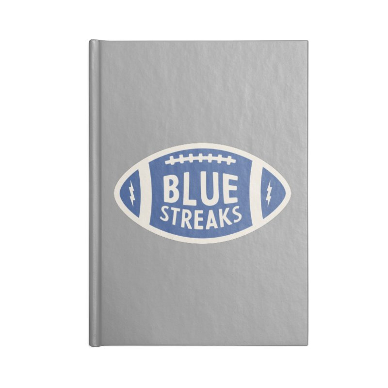 Blue Streaks Football Accessories Blank Journal Notebook by Shop Sandusky Ink & Cloth