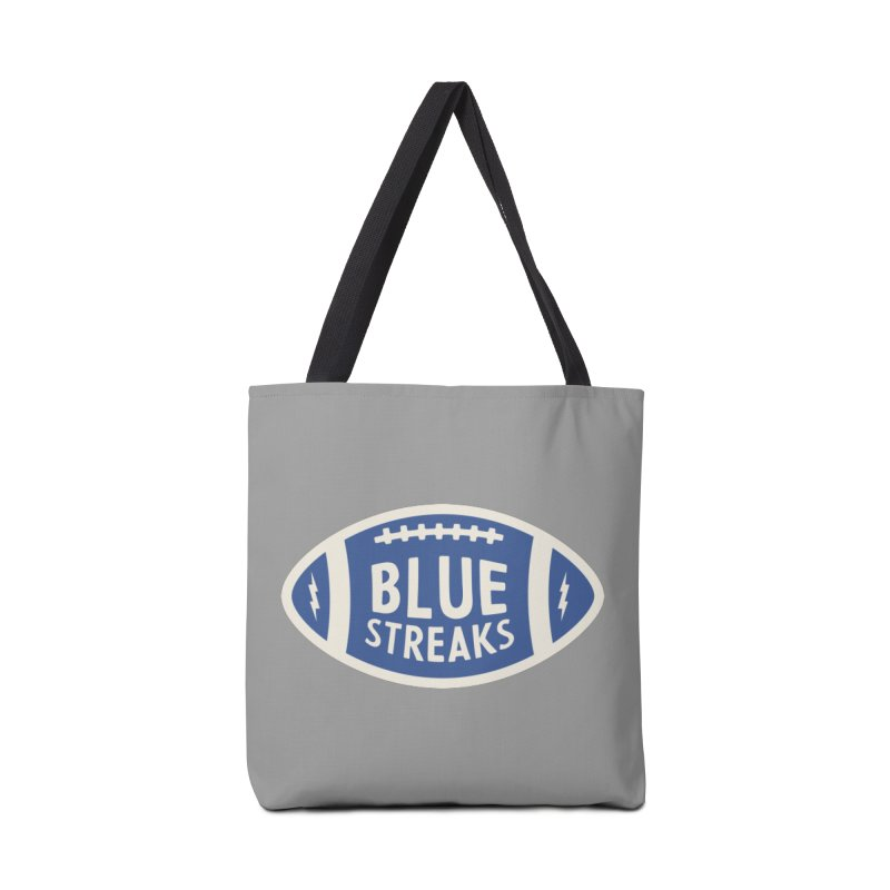 Blue Streaks Football Accessories Tote Bag Bag by Shop Sandusky Ink & Cloth