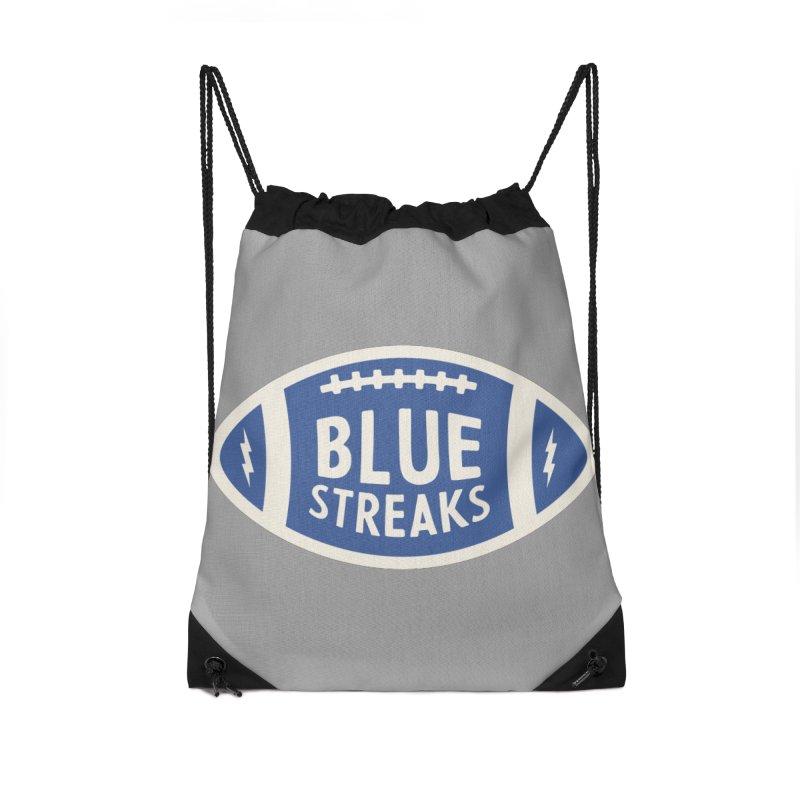 Blue Streaks Football Accessories Drawstring Bag Bag by Shop Sandusky Ink & Cloth