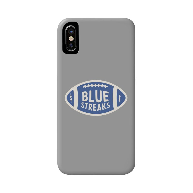 Blue Streaks Football Accessories Phone Case by Shop Sandusky Ink & Cloth