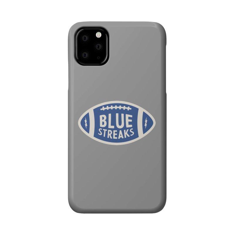 Blue Streaks Football Accessories Phone Case by Shop Sandusky Ink & Cloth