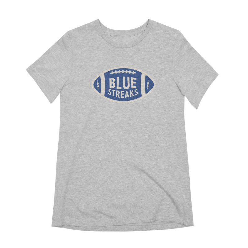 Blue Streaks Football Women's Extra Soft T-Shirt by Shop Sandusky Ink & Cloth