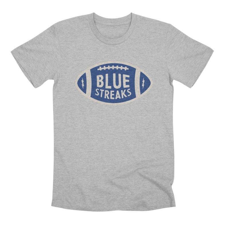 Blue Streaks Football Men's Premium T-Shirt by Shop Sandusky Ink & Cloth