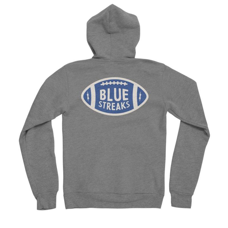 Blue Streaks Football Men's Sponge Fleece Zip-Up Hoody by Shop Sandusky Ink & Cloth
