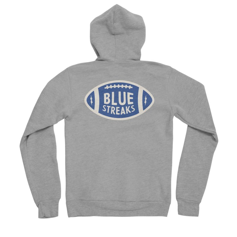 Blue Streaks Football Women's Sponge Fleece Zip-Up Hoody by Shop Sandusky Ink & Cloth