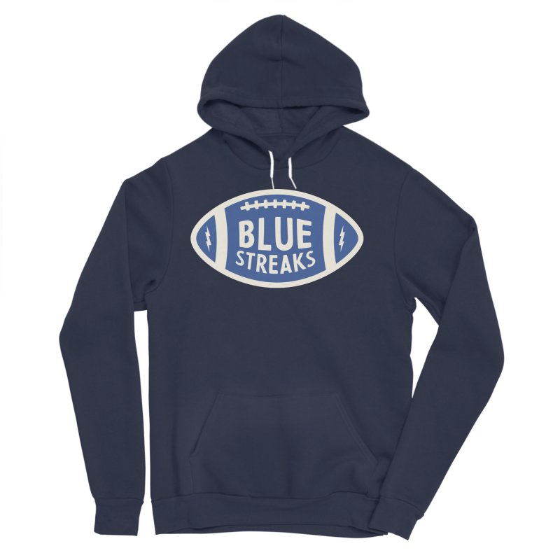 Blue Streaks Football Men's Sponge Fleece Pullover Hoody by Shop Sandusky Ink & Cloth