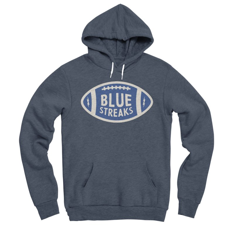 Blue Streaks Football Women's Sponge Fleece Pullover Hoody by Shop Sandusky Ink & Cloth