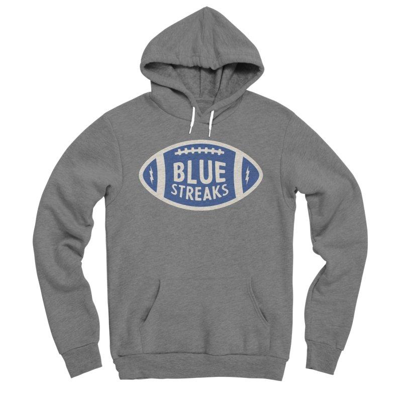 Blue Streaks Football Men's Sponge Fleece Pullover Hoody by Shop Sandusky Ink & Cloth