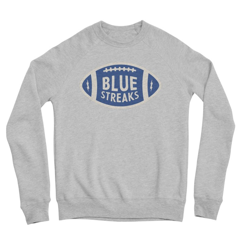 Blue Streaks Football Men's Sponge Fleece Sweatshirt by Shop Sandusky Ink & Cloth