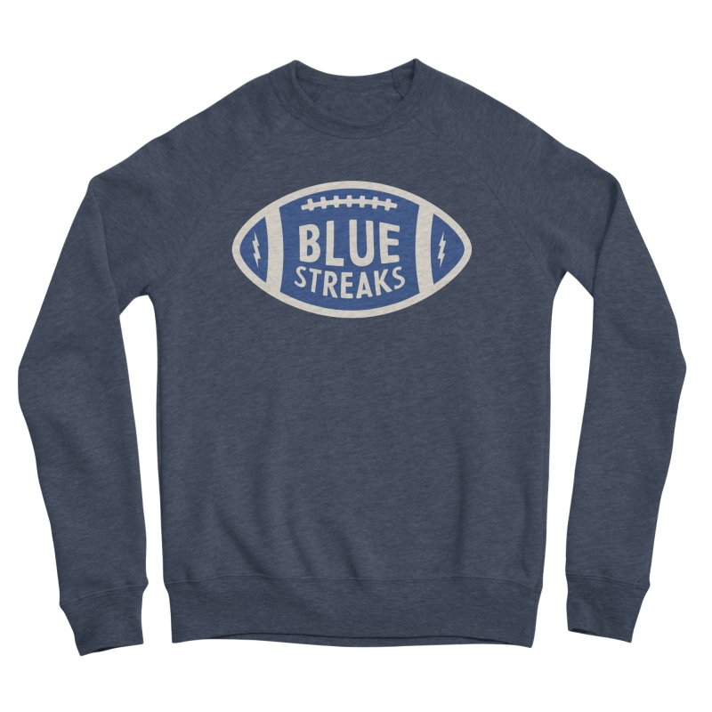 Blue Streaks Football Women's Sponge Fleece Sweatshirt by Shop Sandusky Ink & Cloth
