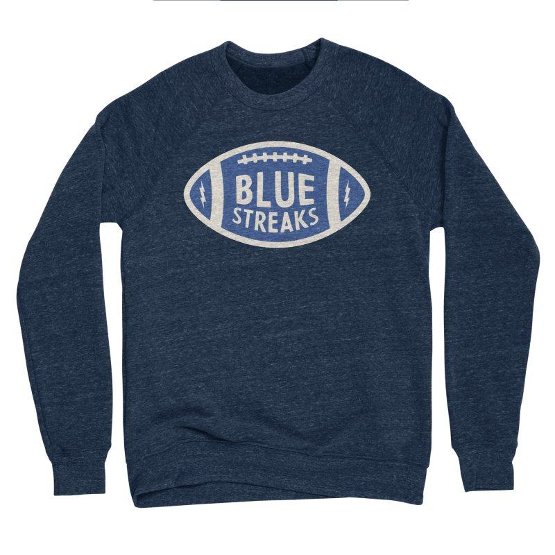 Blue Streaks Football Men's Sponge Fleece Sweatshirt by Shop Sandusky Ink & Cloth