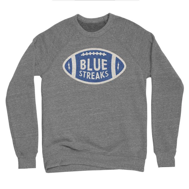 Blue Streaks Football Women's Sponge Fleece Sweatshirt by Shop Sandusky Ink & Cloth