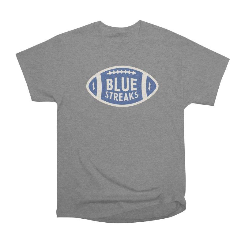 Blue Streaks Football Men's Heavyweight T-Shirt by Shop Sandusky Ink & Cloth
