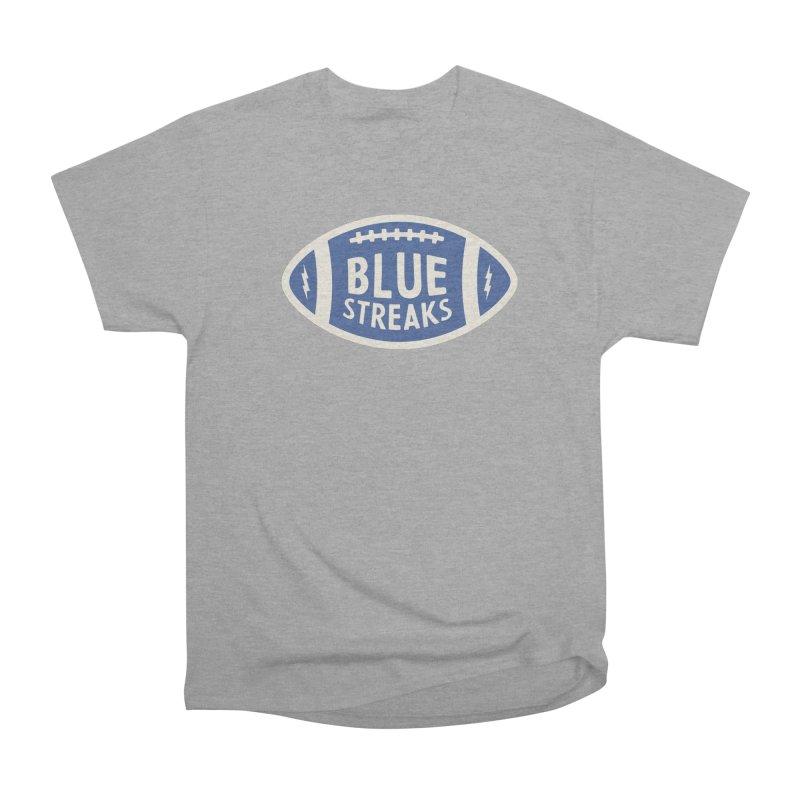 Blue Streaks Football Women's Heavyweight Unisex T-Shirt by Shop Sandusky Ink & Cloth