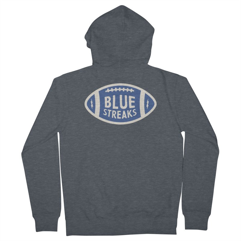 Blue Streaks Football Women's French Terry Zip-Up Hoody by Shop Sandusky Ink & Cloth