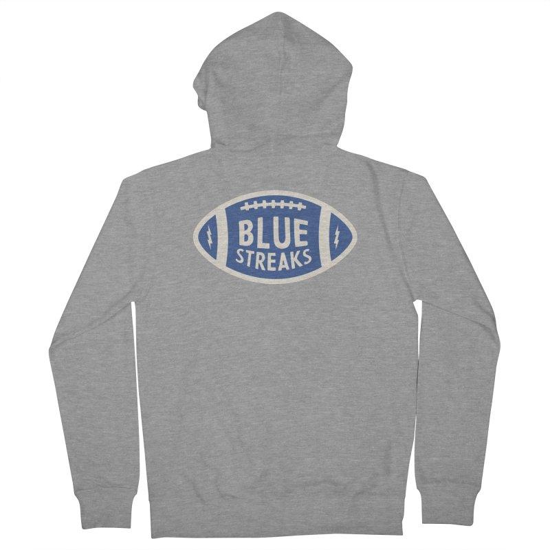 Blue Streaks Football Men's French Terry Zip-Up Hoody by Shop Sandusky Ink & Cloth