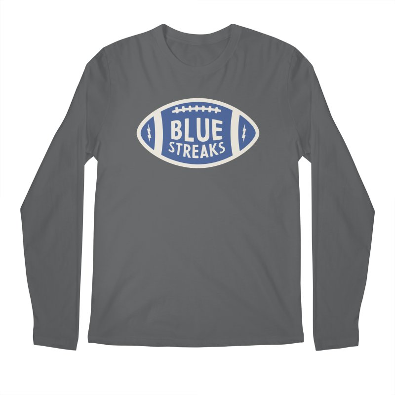 Blue Streaks Football Men's Regular Longsleeve T-Shirt by Shop Sandusky Ink & Cloth