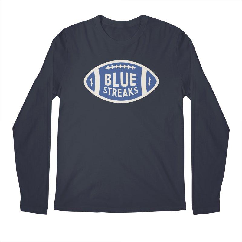 Blue Streaks Football Men's Regular Longsleeve T-Shirt by Shop Sandusky Ink & Cloth