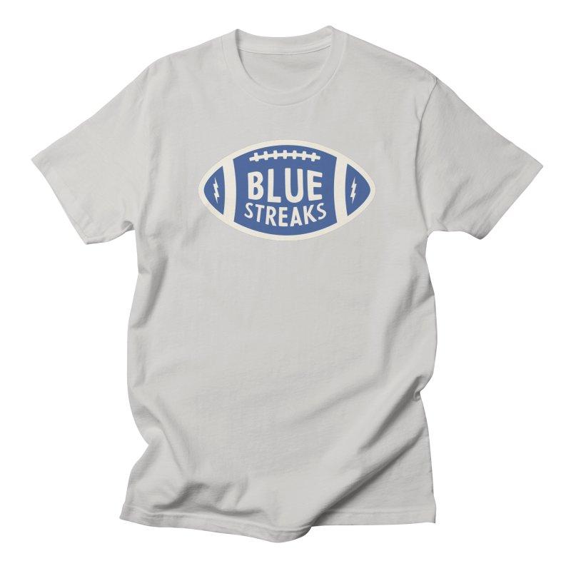 Blue Streaks Football Men's Regular T-Shirt by Shop Sandusky Ink & Cloth