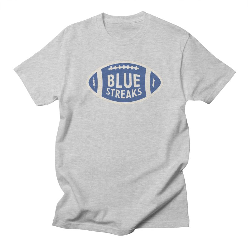 Blue Streaks Football Men's Regular T-Shirt by Shop Sandusky Ink & Cloth