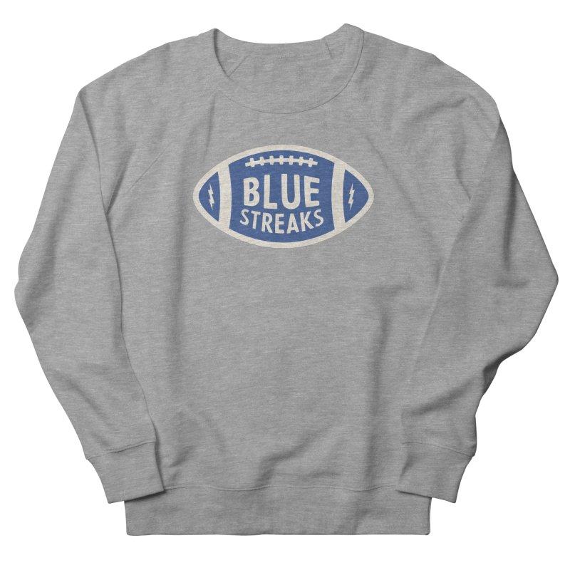 Blue Streaks Football Men's French Terry Sweatshirt by Shop Sandusky Ink & Cloth