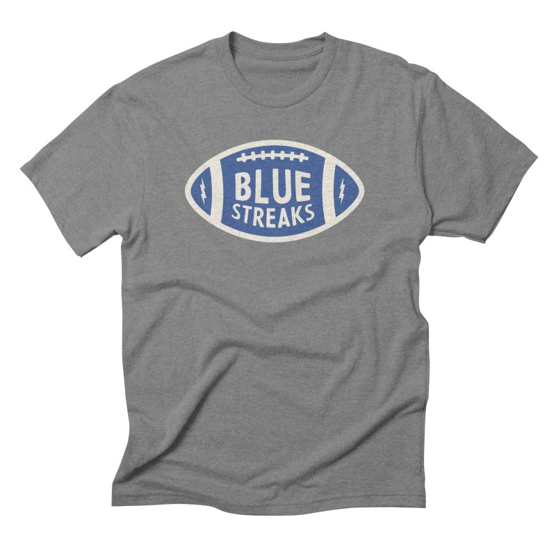 Blue Streaks Football Men's Triblend T-Shirt by Shop Sandusky Ink & Cloth