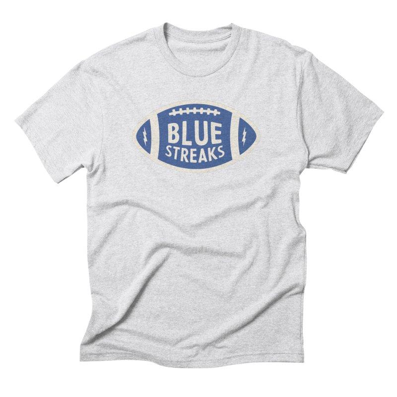 Blue Streaks Football Men's Triblend T-Shirt by Shop Sandusky Ink & Cloth