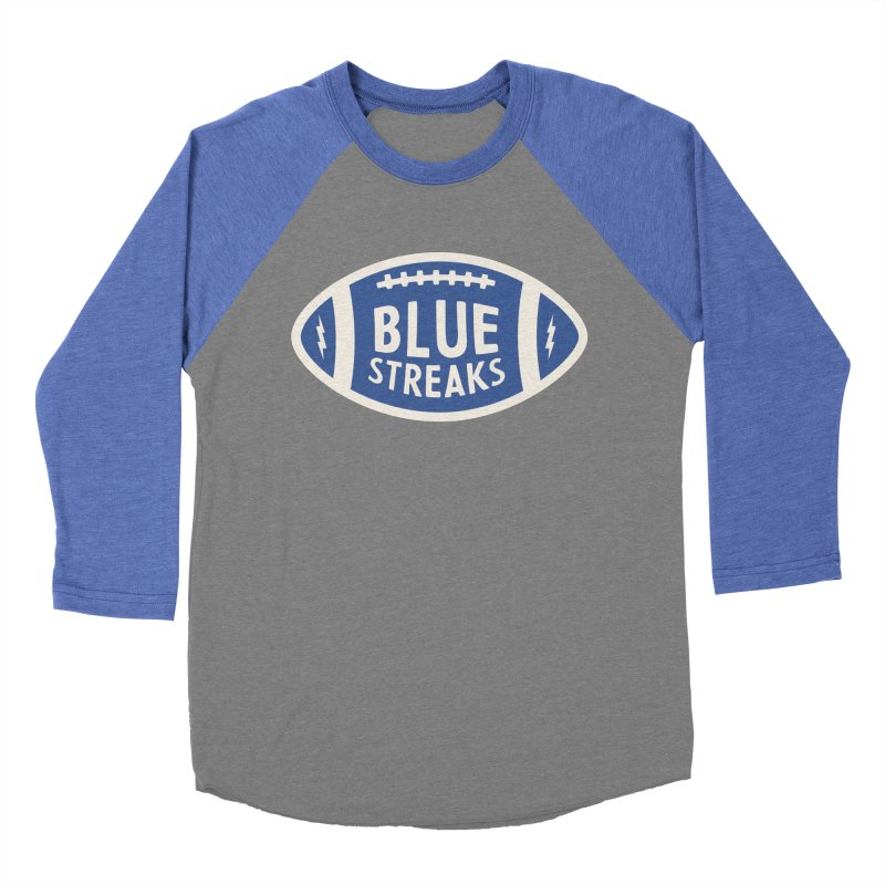 Blue Streaks Football Women's Baseball Triblend Longsleeve T-Shirt by Shop Sandusky Ink & Cloth