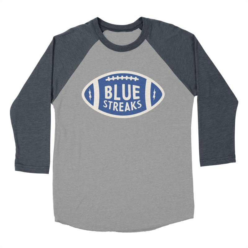 Blue Streaks Football Women's Baseball Triblend Longsleeve T-Shirt by Shop Sandusky Ink & Cloth