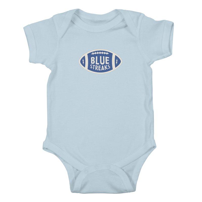 Blue Streaks Football Kids Baby Bodysuit by Shop Sandusky Ink & Cloth