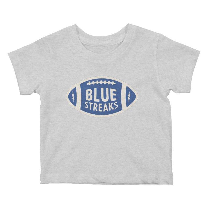 Blue Streaks Football Kids Baby T-Shirt by Shop Sandusky Ink & Cloth