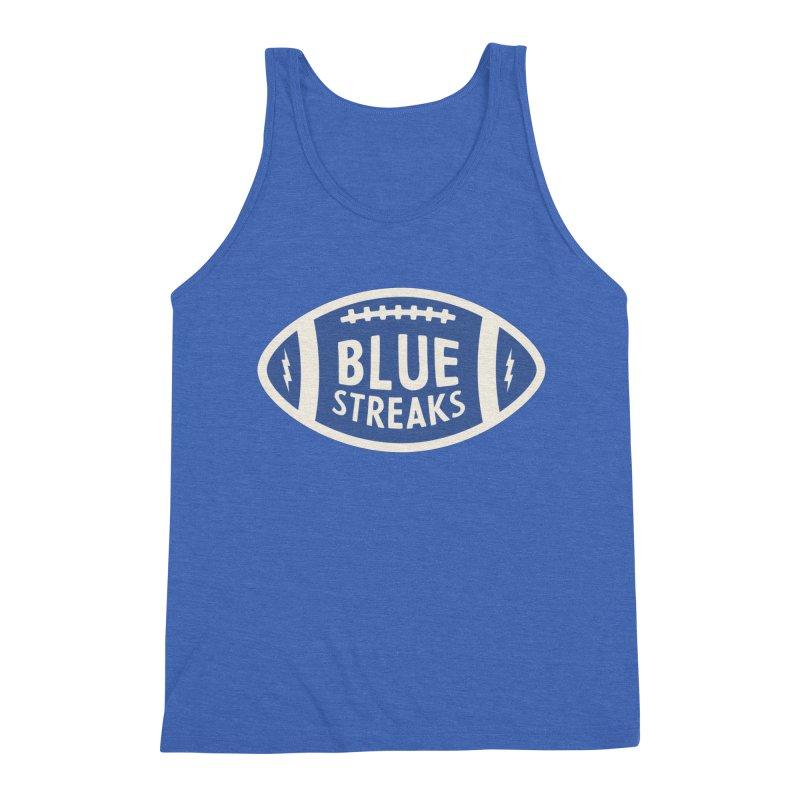 Blue Streaks Football Men's Triblend Tank by Shop Sandusky Ink & Cloth