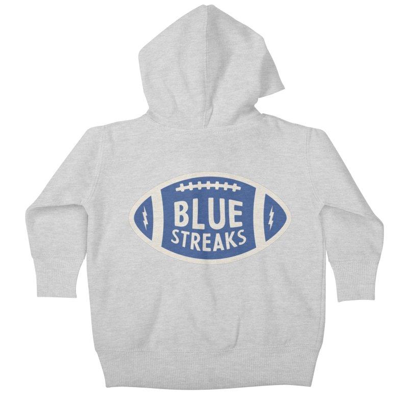 Blue Streaks Football Kids Baby Zip-Up Hoody by Shop Sandusky Ink & Cloth
