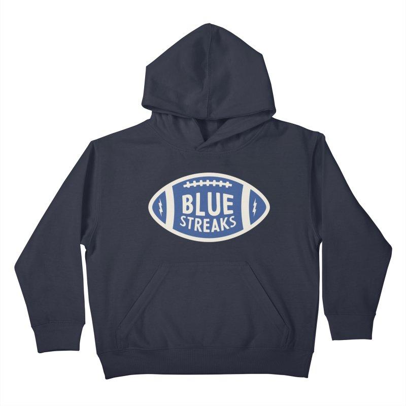 Blue Streaks Football Kids Pullover Hoody by Shop Sandusky Ink & Cloth