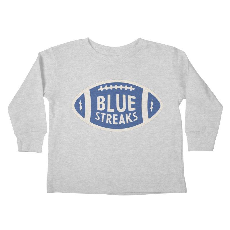 Blue Streaks Football Kids Toddler Longsleeve T-Shirt by Shop Sandusky Ink & Cloth
