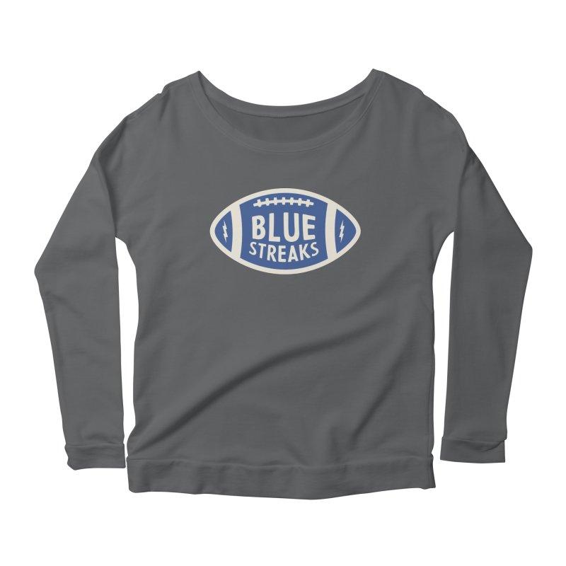 Blue Streaks Football Women's Scoop Neck Longsleeve T-Shirt by Shop Sandusky Ink & Cloth