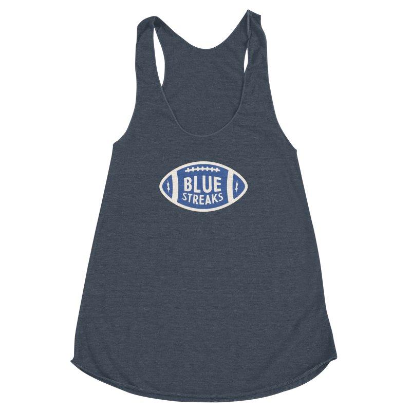 Blue Streaks Football Women's Racerback Triblend Tank by Shop Sandusky Ink & Cloth