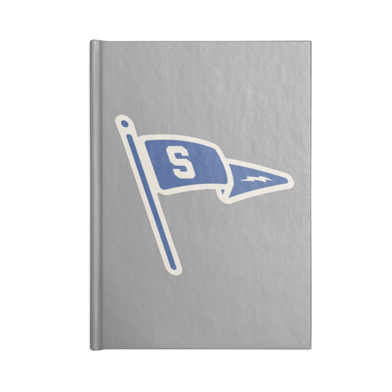Sandusky Blue Streaks Penant Accessories Lined Journal Notebook by Shop Sandusky Ink & Cloth