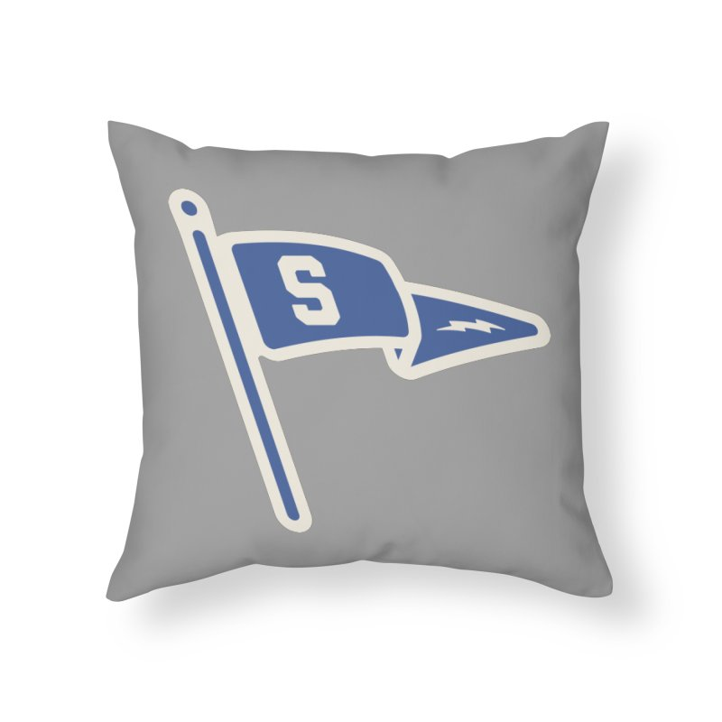 Sandusky Blue Streaks Penant Home Throw Pillow by Shop Sandusky Ink & Cloth