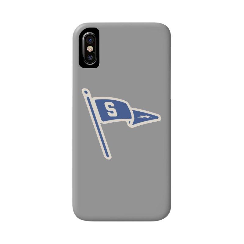Sandusky Blue Streaks Penant Accessories Phone Case by Shop Sandusky Ink & Cloth
