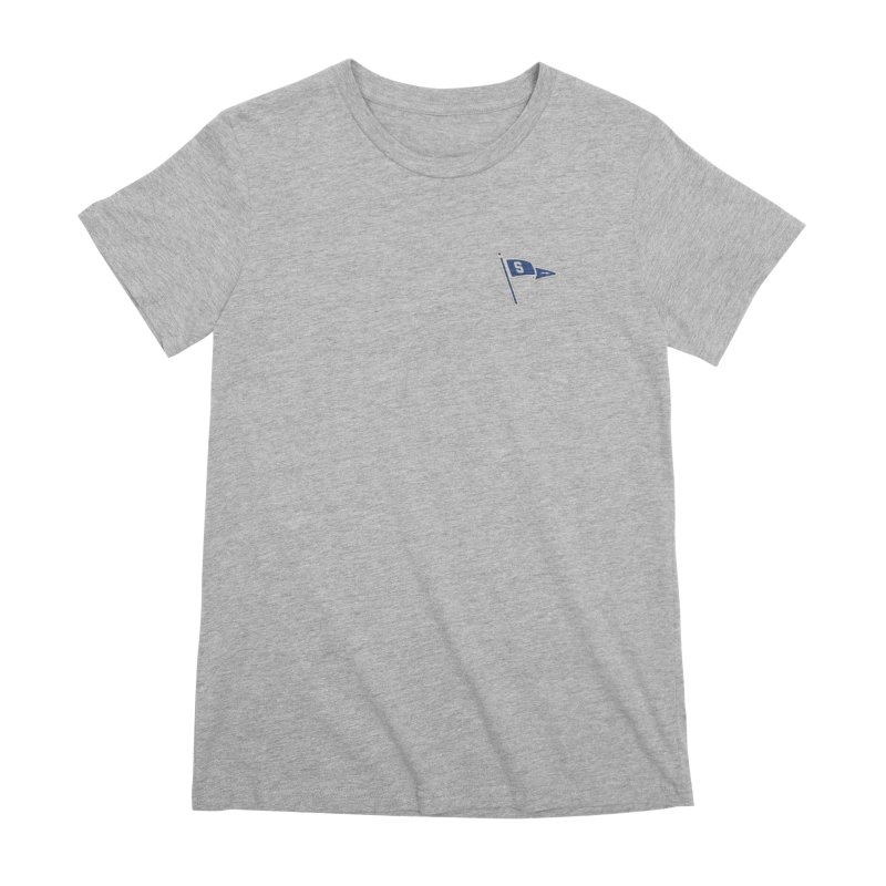 Sandusky Blue Streaks Penant Women's Premium T-Shirt by Shop Sandusky Ink & Cloth