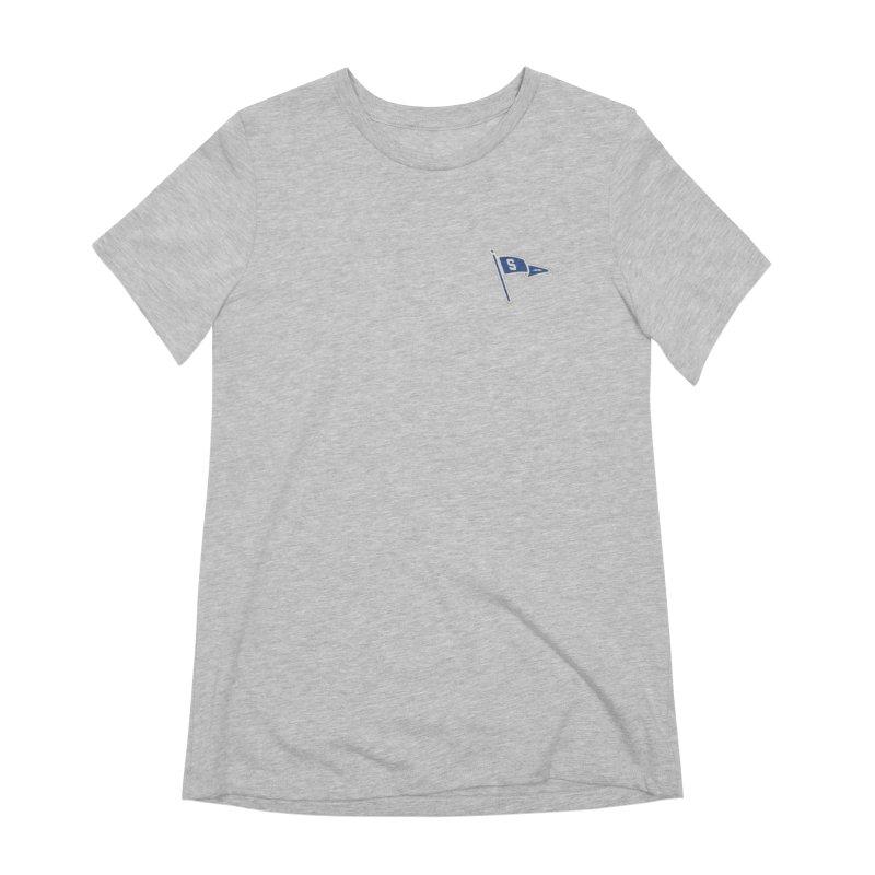 Sandusky Blue Streaks Penant Women's Extra Soft T-Shirt by Shop Sandusky Ink & Cloth